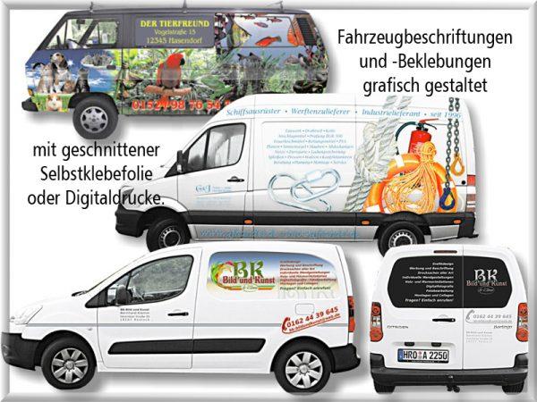Bild: Fahrzeugbeschriftungen