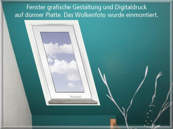 Bild: Grafische Fenstergestaltung