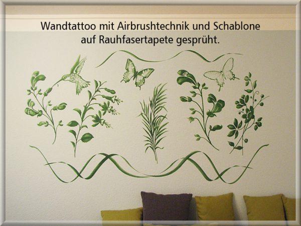Bild: Wandtattoo Airbrush