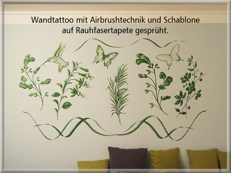 Bild Wandtattoo Airbrush Malermeister Klemm