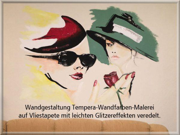 Bild: Wandmalerei Frauenköpfe