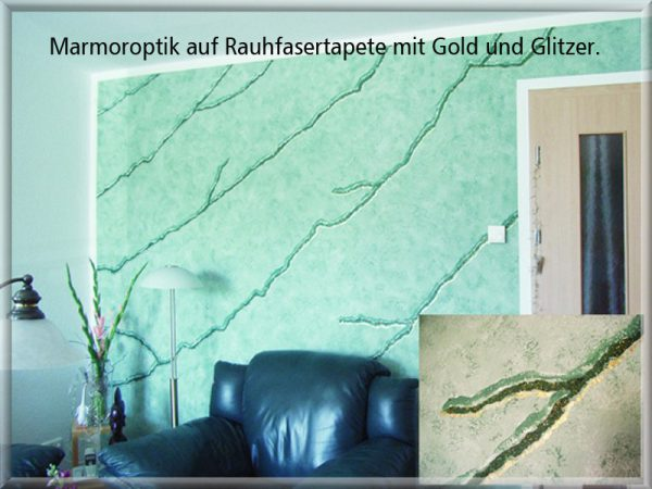 Bild: Marmoroptik mit Glitzer