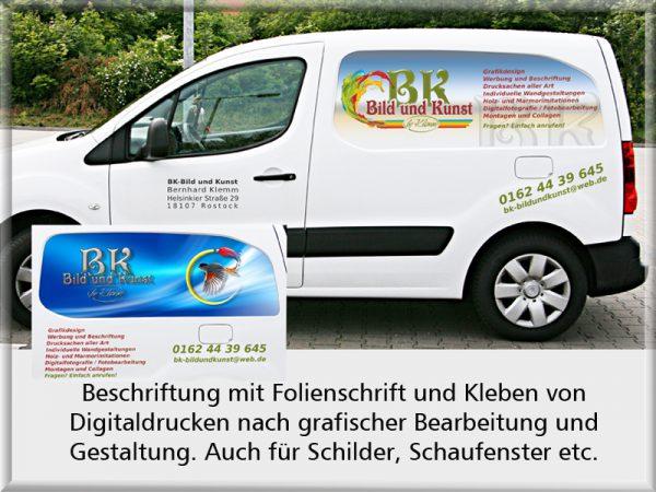 Bild: Fahrzeugbeschriftung