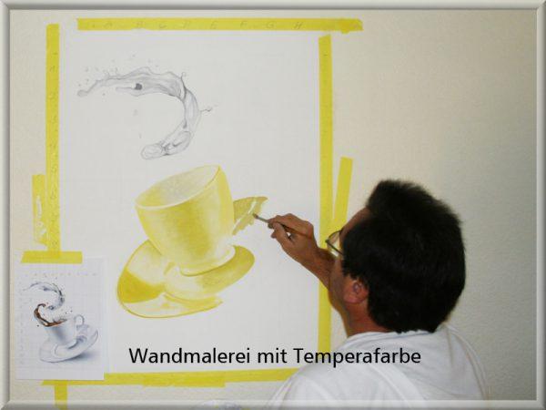 Bild: Wandbild mit Temperafarbe