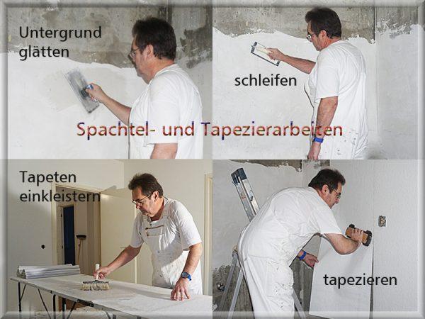 Bild: Spachtel- und Tapezierarbeiten