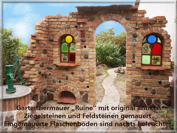"Bild: Gartenzierwand ""Ruine"""